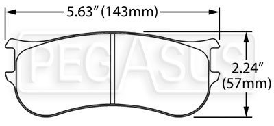 Large photo of PFC Racing Brake Pad, ZR22 Caliper, Pegasus Part No. PF823-Size