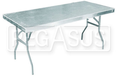 Large photo of Pit Pal Junior Aluminum Work Table (43 x 25), Pegasus Part No. PP156