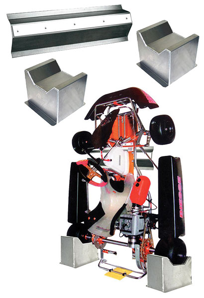 Large photo of Pit Pal Kart Storage Chock Set, Pegasus Part No. PP284