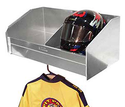 Large photo of Pit Pal 2 Bay Helmet Safety Shelf, Pegasus Part No. PP331