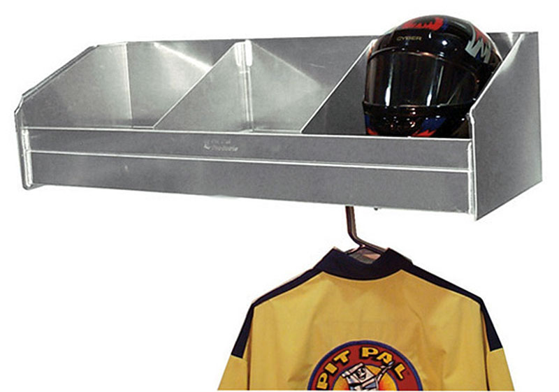 Large photo of Pit Pal 3 Bay Helmet Safety Shelf, Pegasus Part No. PP332