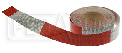 Large photo of Reflective Trailer Tape, per foot, Pegasus Part No. PPRT1000