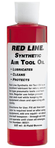 Large photo of Red Line Air Tool Oil, Pegasus Part No. RL013-Quantity