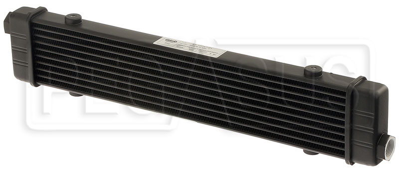 Large photo of Setrab SLM Series Oil Cooler, 10 Row, M22 Ports, 420mm Core, Pegasus Part No. SET-53-10747