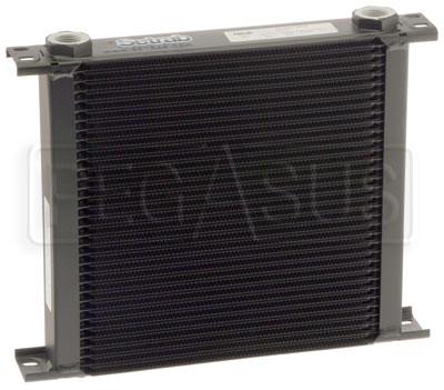 Large photo of Setrab Series 6 Oil Cooler, 34 Row, M22 Ports, Pegasus Part No. SET-634-7612