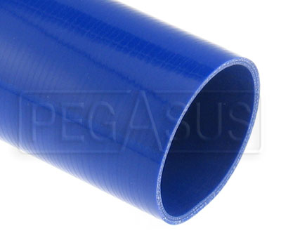 Large photo of Blue Silicone Hose, Straight, 4 inch ID, 1 Meter Length, Pegasus Part No. SHL102-BLUE
