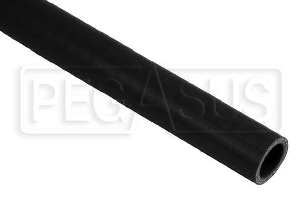 Large photo of Black Silicone Hose, Straight, 1 inch ID, 1 Meter Length, Pegasus Part No. SHL25-BLACK