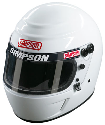 Large photo of Simpson Voyager Evolution Helmet, Snell SA2010 Approved, Pegasus Part No. SIMP419-Size-Color