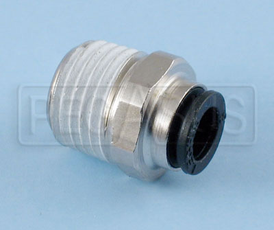 "Large photo of SPA 1/4 x 6mm (1/4"") Push-in Fitting for Firing Head, Pegasus Part No. SP 022"