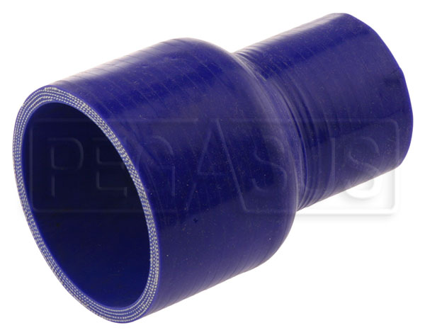 "Large photo of Blue Silicone Hose, 3"" x 2"" Straight Reducer, Pegasus Part No. SR76.51-BLUE"