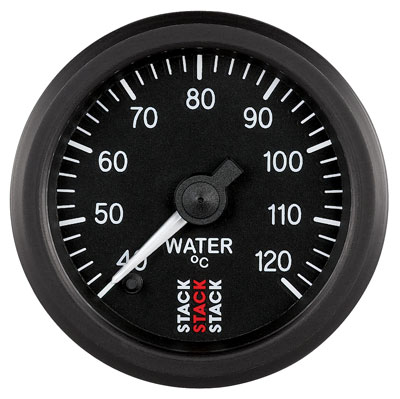 Large photo of Stack Stepper Analog Water Temperature Gauge, 40-120 C, Pegasus Part No. ST3307
