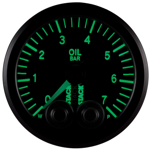 Large photo of Stack Pro-Control Oil Pressure Gauge, 0-7 Bar, 52mm, Pegasus Part No. ST3501