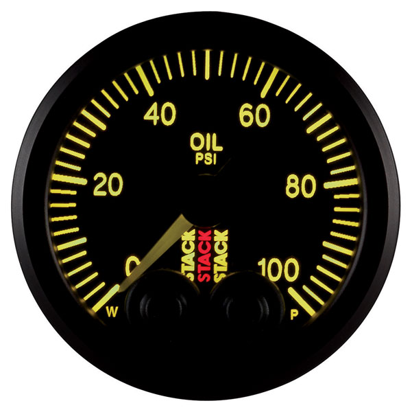 Large photo of Stack Pro-Control Oil Pressure Gauge, 0-100 psi, Pegasus Part No. ST3502