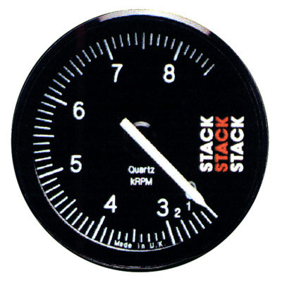 "Large photo of Stack Series ST400 Professional Tachometer, 3 5/16"", Pegasus Part No. ST400-LOWRPM-MAXRPM"