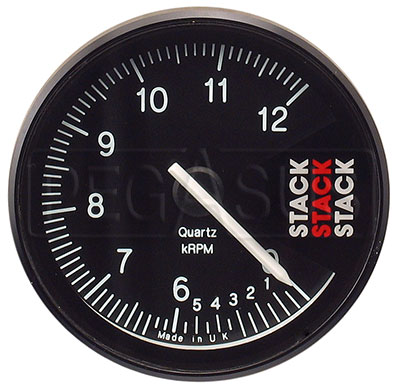 Large photo of Stack ST408 Professional Tach, 0-6-12000rpm/25 min., Pegasus Part No. ST408-Size-Color