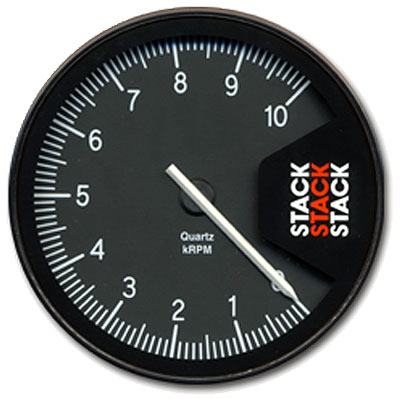 "Large photo of Stack Series ST430 Professional Tachometer, 5"", Pegasus Part No. ST430-LOWRPM-MAXRPM"