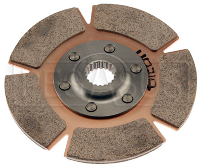 "Large photo of Tilton 5.5"" OT-3 Disc, Cerametallic Rally, Std Hub,7/8 x 20, Pegasus Part No. TE 64140-7-A-25"