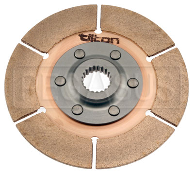 "Large photo of Tilton 5.5"" OT-3 Clutch Disc, Metallic, Std Hub, 7/8 x 20, Pegasus Part No. TE 64140-9-A-25"