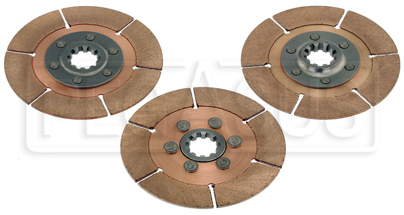 "Large photo of Tilton 5.5"" 3-Disc Clutch Pack, Metallic, 29mm x 10 Spline, Pegasus Part No. TE 64140-9-ACC-10"