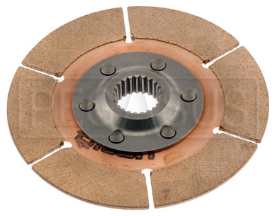"Large photo of Tilton 5.5"" OT-3 Clutch Disc, Metallic, Ext Hub, 1 x 23, Pegasus Part No. TE 64140-9-F-30"