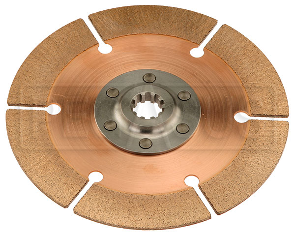 "Large photo of Tilton OT-2 Clutch Disc, 7.25"", 7/8 x 10 Spline, BMC/Triumph, Pegasus Part No. TE 64185-2-A-03"