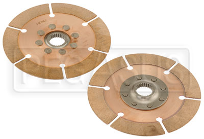 "Large photo of Tilton OT-2 Dual Clutch Disc Set, 7.25"", 1 5/32"" x 26 Spline, Pegasus Part No. TE 64185-4-VV-36"