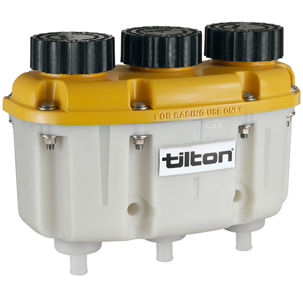 Large photo of Tilton 3-in-1 Plastic Reservoir with Push-On Hose Barbs, Pegasus Part No. TE 72-576