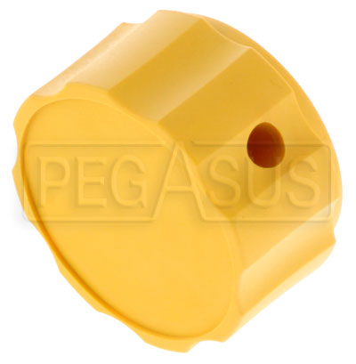 Large photo of Plastic Knob Only (Yellow) for Tilton Remote Adjuster Cables, Pegasus Part No. TE 72-846