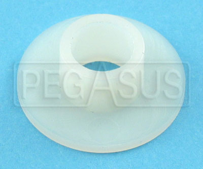 Large photo of Tilton Nylon Pedal Bushing Flange, old style, Pegasus Part No. TE 72-880