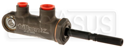 "Large photo of Tilton 77-series Master Cylinder, Pivot Type, 5/8"" Bore Size, Pegasus Part No. TE 77-625"