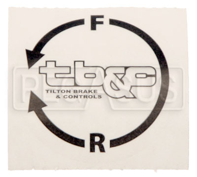 Large photo of Tilton Adjuster Cable Knob Decal, Counter-clockwise, Pegasus Part No. TE 98-2283