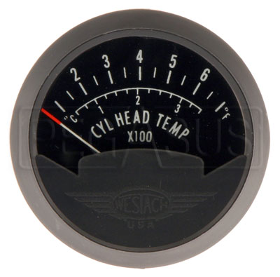 Large photo of Single CHT Gauge, 2 1/16in, 100 - 700F, Pegasus Part No. WBT-2C1
