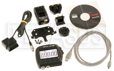 Large photo of AiM SoloDL On-Board Lap Timer, OBD-II / K-Line ECU Plug, Pegasus Part No. MC-571