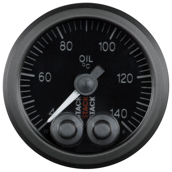 Large photo of Stack Pro-Control Oil Temperature Gauge, 40-140 deg. C, 52mm, Pegasus Part No. ST3509