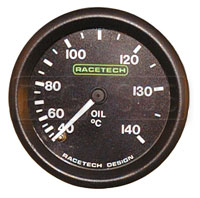 Racetech 140 C Oil Temperature Gauge
