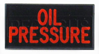 Dash Badge Identification Plate (Oil Pressure)