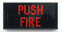 Dash Badge Identification Plate (Push Fire)