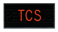 Dash Badge Identification Plate (TCS) Traction Control Sys.