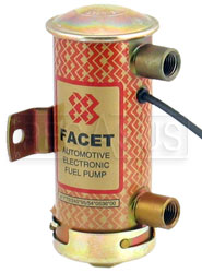 Facet Cylindrical 12v Fuel Pump, 1/4 NPT, 6-8 psi, Blue Top