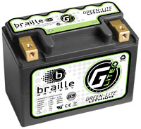 (LI) Braille 12v Lithium Battery, 346 CA, 6Ah, G-5, Left Pos