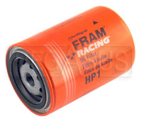 Fram HP-1 High-Performance Oil Filter, 3/4-16 Thread, Long
