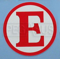 SCCA  Red E  Decal for Fire Extinguisher