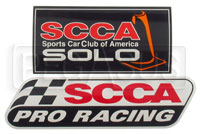 SCCA Car Decals: Club, Solo or Pro