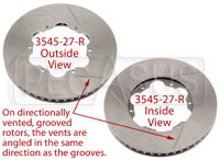 Brake Rotor, DB4/RT4, Directionally Vented, Grooved