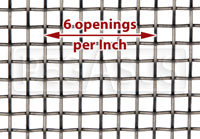 Medium  Mesh Stainless, #6 x .035 Wire (6 openings per inch)
