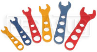 6 Piece Aluminum AN Wrench Set, Sizes 3, 4, 6, 8, 10, 12
