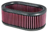 K&N Filter Element, Large Oval (5.5 W x 9 L x 3.25 H)