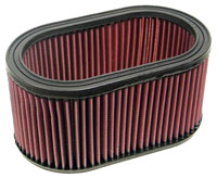 K&N Filter Element, Large Oval (5.5 W x 9 L x 4.50 H)
