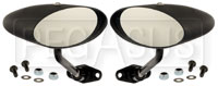 Club Series Elliptical Convex Lens Mirrors, Nylon, Pair