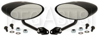Club Series Elliptical Flat Lens Mirrors, Nylon, Pair